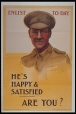 Enlist To-Day. He's Happy & Satified, Are You ? (M981.93)