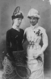 """Miss Allan and friend as """"Tennis"""" and """"Winter"""", Montreal, QC, 1881 (II-60125.1)"""