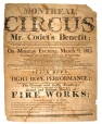 Montreal Circus, Mr. Codet's Benefit (M6109)