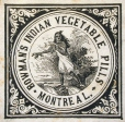 Étiquette commerciale de Bowman's Indian Vegetable Pills (M930.50.1.893)
