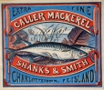 Commercial label of Caller Mackerel, Shanks & Smith, Charlottetown (M930.50.1.93)
