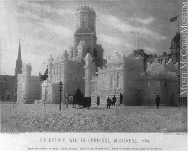 MP-1975.19 | Ice palace, Winter Carnival, Montreal, QC, 1884 | Print | Alexander Henderson