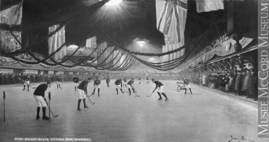 II-101415 | Hockey Match, Victoria Rink, Montreal, QC, composite, 1893 | Photograph | William Notman & Son