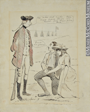 M1793 | General James Wolfe, at Quebec, 1759 | Drawing, cartoon | George Townshend