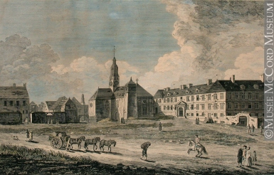 M970.67.7 | A View of the Jesuits College and Church | Print | Richard Short