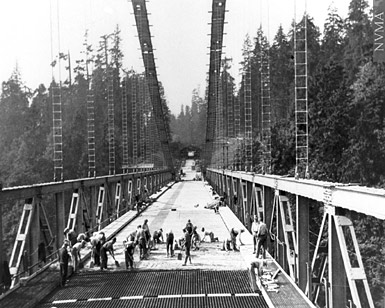 5294 | Construction of Lions Gate Bridge | Photograph |