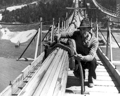 5295 | Construction of Lions Gate Bridge | Photograph |