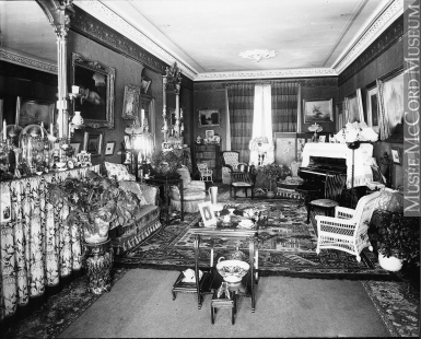 II-114793 | Interior, Mrs. Snyder's house, Montreal, QC, 1896 | Photograph | Wm. Notman & Son