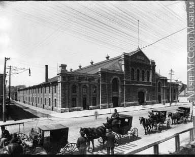 VIEW-2544.1 | Drill Hall, Craig Street, Montreal, QC, about 1895 | Photograph | Wm. Notman & Son