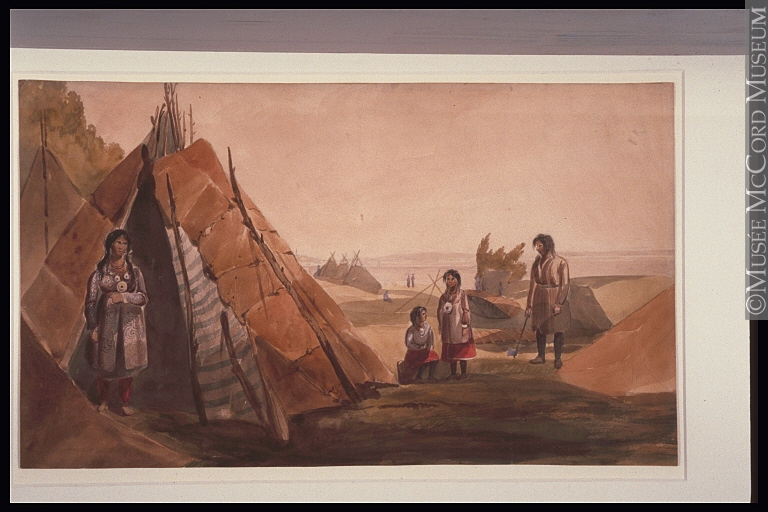 Painting | Mi'kmaq encampment at Point Levis, Quebec | M1821